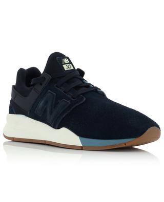 Suede and textile sneakers with embossed logo NEW BALANCE