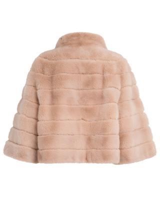 Mink fur and leather jacket YVES SALOMON