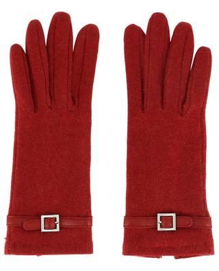Maelle knit and leather gloves AGNELLE