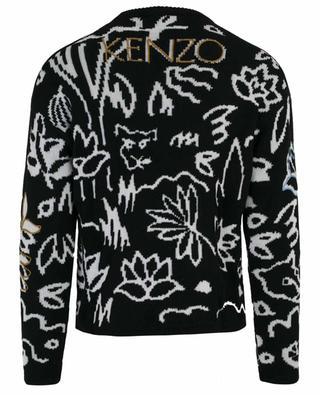 Pull brodé en laine  Memento KENZO