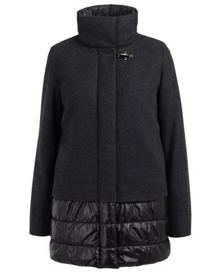 Technical fabric, wool and cashmere coat FAY