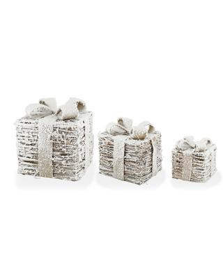 Set of three lit gift boxes KAEMINGK