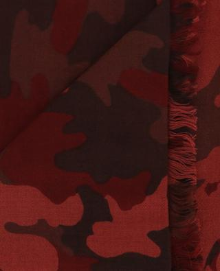 Pamouflage cashmere and silk scarf HEMISPHERE