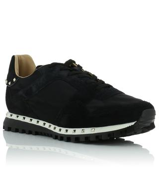 Stud fabric and suede sneakers VALENTINO