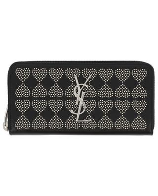 Monogram Coeur large zip-around wallet SAINT LAURENT PARIS