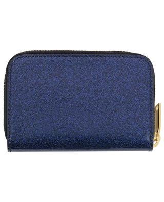 Kleine Brieftasche aus Glitter-Lackleder Monogram SAINT LAURENT PARIS