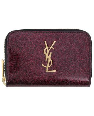 Kleine Brieftasche aus Glitter-Lackleder Monogram SAINT LAURENT PARIS