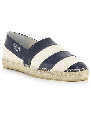 Canvas and leather espadrilles VALENTINO