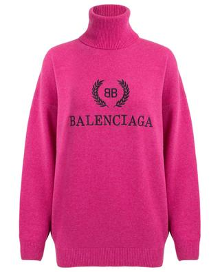 Virgin wool and cashmere turtle neck jumper BALENCIAGA