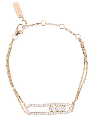 Move Classique pink gold and diamonds bracelet MESSIKA