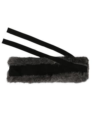 Rabbit Tierra fur collar LEA CLEMENT