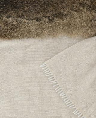 Schal aus Wolle, Kaschmir und Pelz LEA CLEMENT