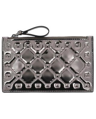 Rockstud Spike silver card holder VALENTINO
