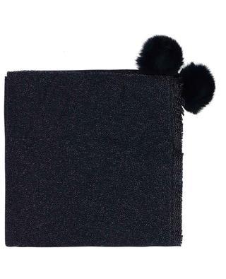 Foulard en laine et fourrure Granity LEA CLEMENT