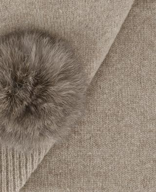 Trocadéro wool, cashmere and fur scarf LEA CLEMENT