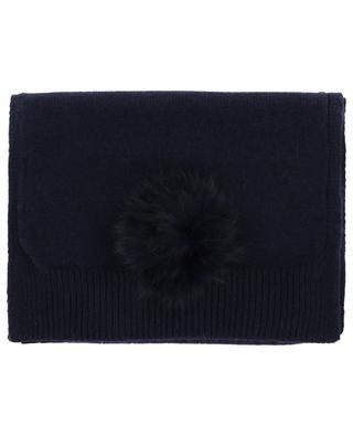 Écharpe en laine, cachemire et fourrure Trocadéro LEA CLEMENT