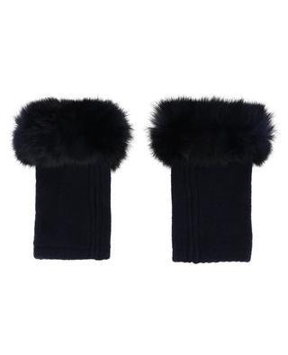 Mitaines en laine, cachemire et fourrure Trocadéro LEA CLEMENT