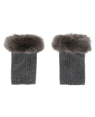 Trocadéro Wool, cashmere and fur mittens LEA CLEMENT