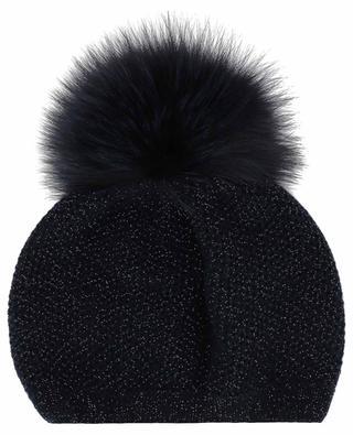 Glitzernde Mütze mit Pelz Beatrice INVERNI FIRENZE