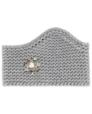 Diva crystal embellished knit headband INVERNI FIRENZE