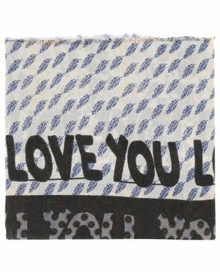 Leichter Schal aus Wolle Lexic STORIATIPIC