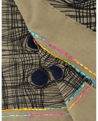 Grande écharpe en laine Oblic STORIATIPIC