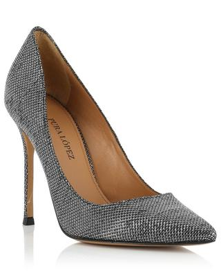 Kameron leather and fabric pumps PURA LOPEZ