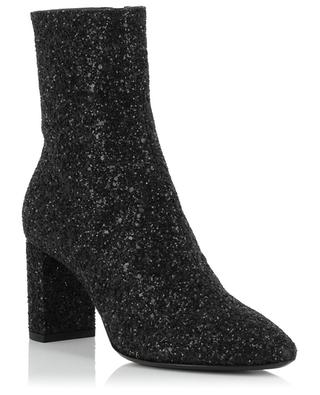 Bottines en cuir et paillettes Loulou 70 SAINT LAURENT PARIS