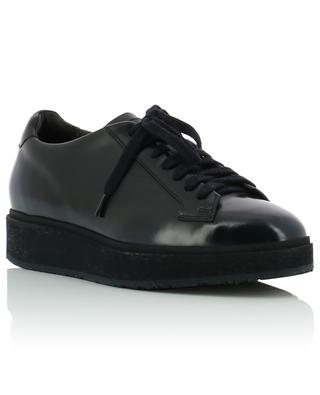 Smooth leather platform derby shoes SANTONI