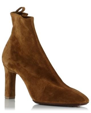 Heeled suede ankle boots with side lacing SANTONI