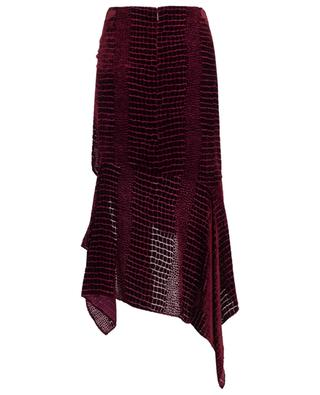 Textured velvet midi skirt ROBERTO CAVALLI