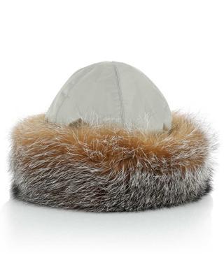 Chapka en tissu et fourrure Fox Crystal MILLER