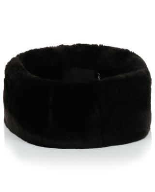 Verstellbares Stirnband aus Kaninchenpelz Rex MILLER