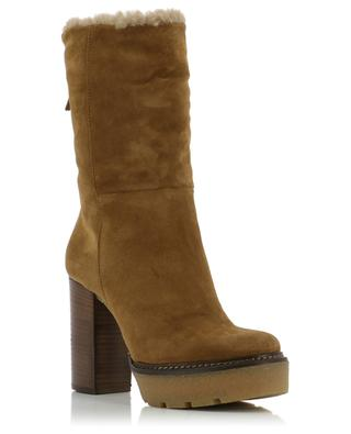 Suede and shearling ankle boots VIC MATIE