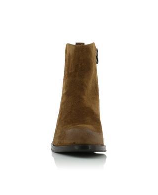 Peach Farro suede ankle boots TRIVER FLIGHT