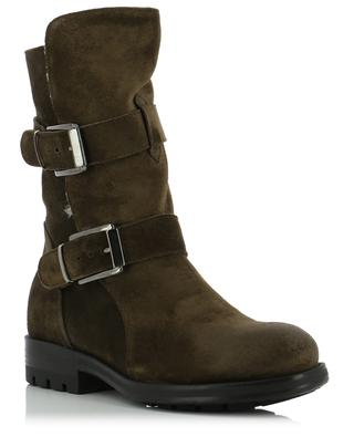 Fur-lined suede ankle boots TRIVER FLIGHT