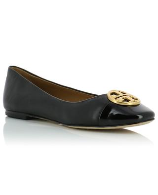 Chelsea leather and patent leather ballet flats TORY BURCH