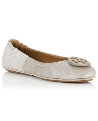 Ballerinas aus Metallic-Wildleder Minnie TORY BURCH
