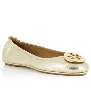 Minnie metallic leather ballet flats TORY BURCH