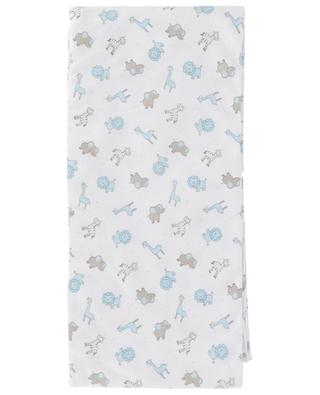 Safari printed cotton swaddle blanket MAGNOLIA BABY