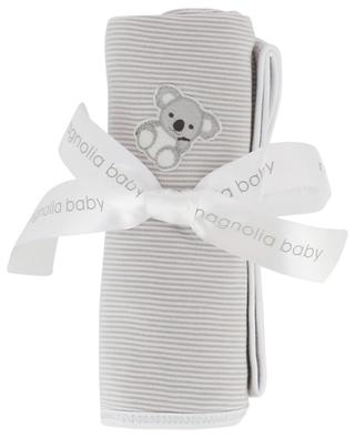 Koala Cuddles striped receiving blanket MAGNOLIA BABY