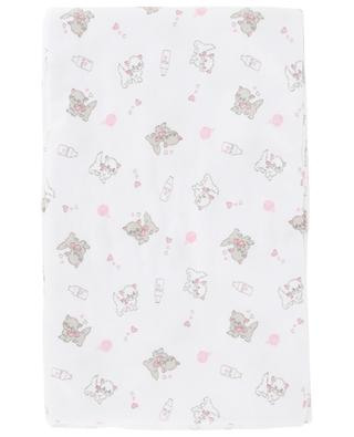 Purrfectly Sweet printed cotton blanket MAGNOLIA BABY