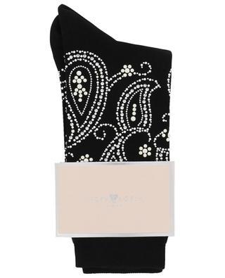 Paisley pearl embellished socks STORY LORIS