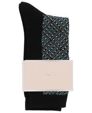 Chaussettes ornées de cristaux Mini Check STORY LORIS