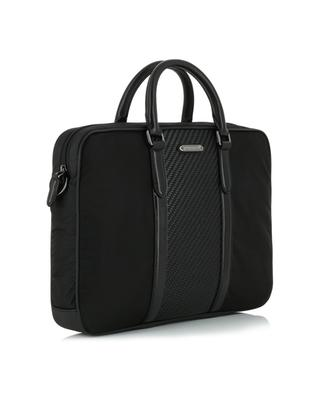 Fabric and leather briefcase ERMENEGILDO ZEGNA
