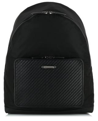 Heritage fabric and leather backpack ERMENEGILDO ZEGNA