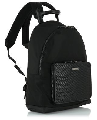 Heritage fabric and leather backpack ERMENEGILDO ZEGNA