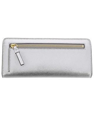 Robinson Slim silver leather wallet TORY BURCH