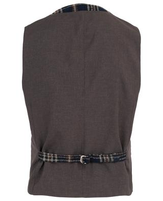 Gatsby cotton and wool blend vest ROSI COLLECTION