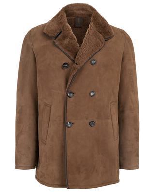 Kurzer Mantel aus Leder mit Wildelder-Effekt RUFFO